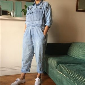 Vintage 90s GAP oversized cropped overalls